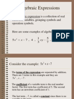 Algebraic Expressions for Class