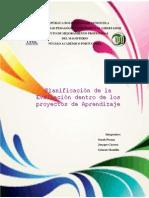Planificación de La Evaluación Dentro de Los Proyectos de Aprendizaje