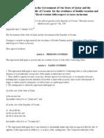DTC agreement between Croatia and Qatar