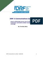 JDRF Communications Study