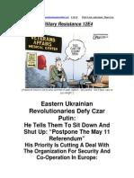 Military Resistance 12E4 Ignoring the Czar