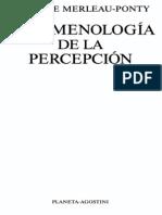 IV.1.Fenomenologia Merleau Ponty