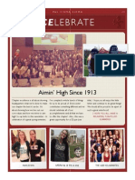 WCU Phi Sigma Sigma Newsletter Spring '14