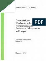Commissione d'inchiesta sulla recrudescenza del fascismo e del razzismo in Europa (Parlamento Europeo, Dicembre 1985)