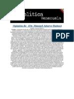 13-05-2014 Política Venezuela -  Oponión de Dr. Manuel Añorve Baños..