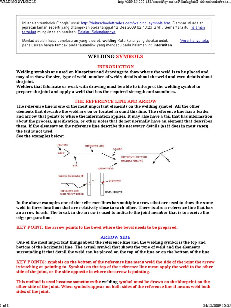 Welding Symbols Mechanical Engineering Nature