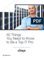 50 Things You Need to Know to Be a Top IT Pro
