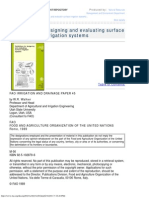 Guidelines for Designing and Evaluating Surface Irrigation Systems