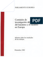Comisión de investigación del ascenso del fascismo y el racismo  en Europa (Parlamento Europeo, Diciembre 1985)