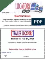 Wanted to Buy - May 14, 2014