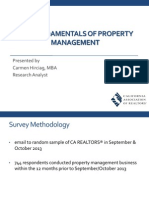 2013 Fundamentals of Property Mangement Webinar