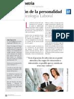 La Medicion de La Personalidad en Psicologia Laboral (1)