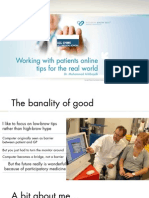 2009.11.12.Working With Patients Online