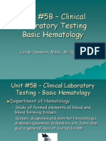 Unit 5B Basic Hematology