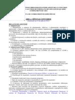Relao de Assuntos e Bibliografia CA 2013 Ao Cfo Qc 2014 Ciencias Contabeis Direito e Enfermagem Atz 12jul13