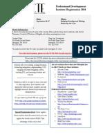 TCTE PD Institute Registration 2014
