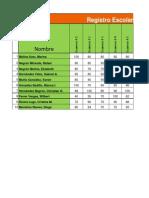 Hoja de Calculo en Excel