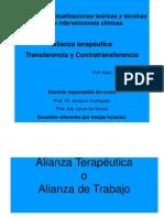Power Alianza Terapéutica, Transferencia y Contratransferencia 2014 (1)
