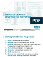 steps for drafting constructed responses - ged testing services