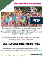 Girl Scout Flyer - Summer 2014 Program Guide