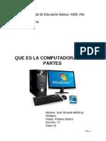 Tarea de Computacion Sobre La Computadora y Sus Partes