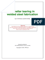 Lamellar Tearing in Welded Steel Fabrication