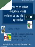 Floria Bertsch-laborat Analisis Suelos y Foliares