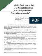 O Neoplatonimo Versus o Compromisso Com a Democracia