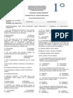Examen de Biologia Primer Bimestre 2013-2014