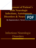 Management of Patients With Neurologic Infections, Autoimmune Disorders & Neuropathies