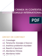 Criza Din Crimea in Contextul Secesionismului International