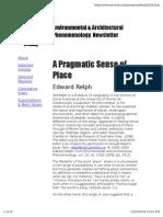 Pragmatic Sense of Place