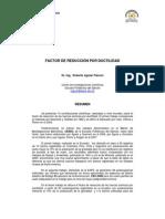 Factor de Reduccion Por Ductilidad