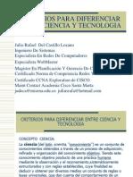 Criterios Para Diferenciar Entre Ciencia y Tecnologia[1]