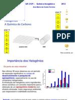 Aula 6 - Química Inorgânica-Halogenios Carbono