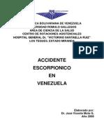 Accidente Escorpionico en Venezuela Ucv Marzo 2008