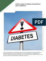 Ampliando información sobre la diabetes Beneficiosos consejos para controlar la diabetes