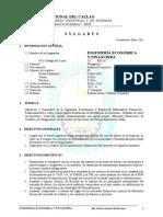 EPIS Ing Econom y Financ (Silabo Por Objetivos) 2012 A