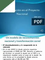 La Educación en El Proyecto Nacional