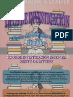 Tipos de Investigación y Estudios