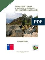 Catastro Flora y Fauna Parque Nacional La Campana