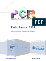 PCR Awaz 103.1FM - Ramzan 2014 Packages