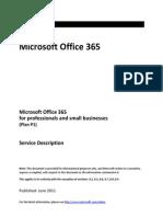 Microsoft Office 365 Service Description