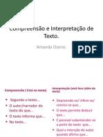 Compreensão e Interpretação de Texto