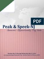 Sale Catalog - Peak & Speek-NJ Genomic Opportunity Tag Sale