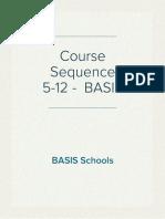 Course Sequence 5-12 BASIS