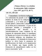 DíazPolanco Rebelión Zapatista y Autonomía