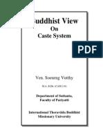Buddhist View on Caste System