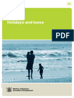 Holidays and Leave