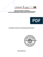 Reglamento Proyecto Socio Integrador Tecnologico Mayo 2012